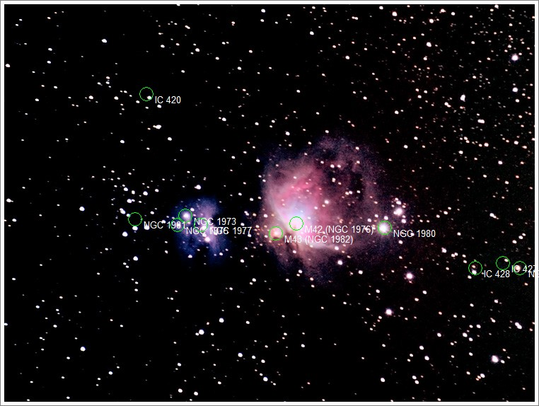 M42 i okolice - opis