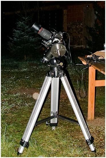 Nocne focenie - Nikon, montaż paralaktyczny, komp