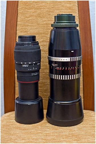 Sonnar 300/4 i Sigma 70-300/4.5-5.6 APO