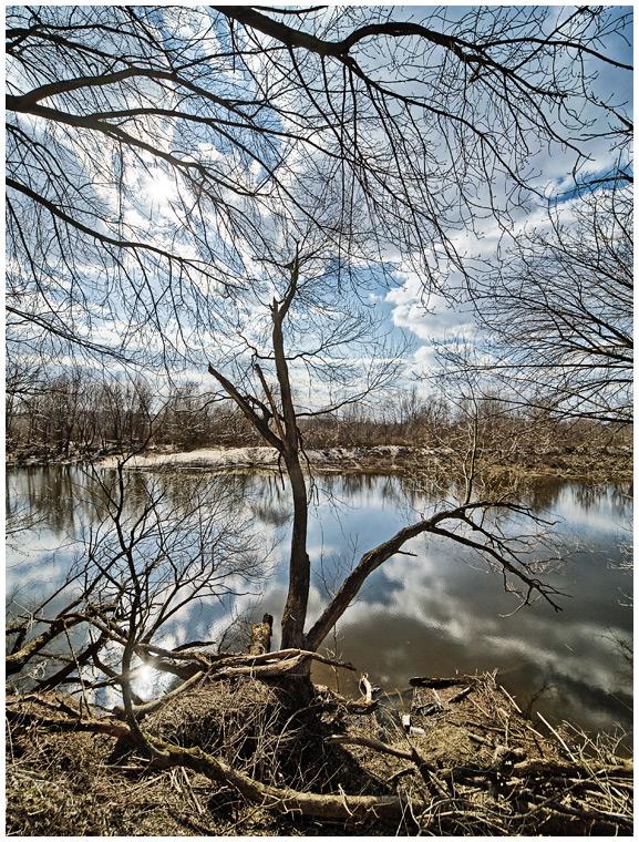 Wiosenny wiślany Tarchomin - fotografia