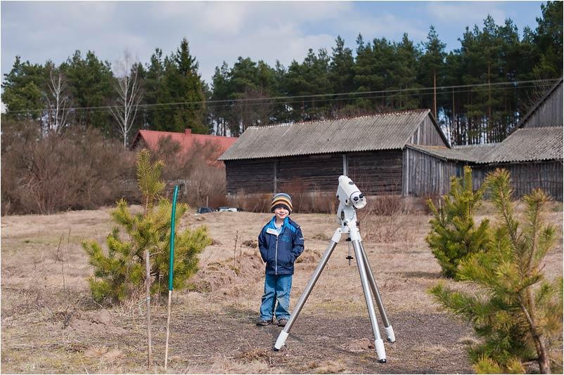 Budowa obserwatorium - fotografia