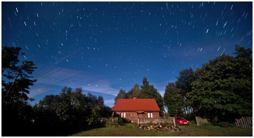 Star trails, gwiazdy, fotografia