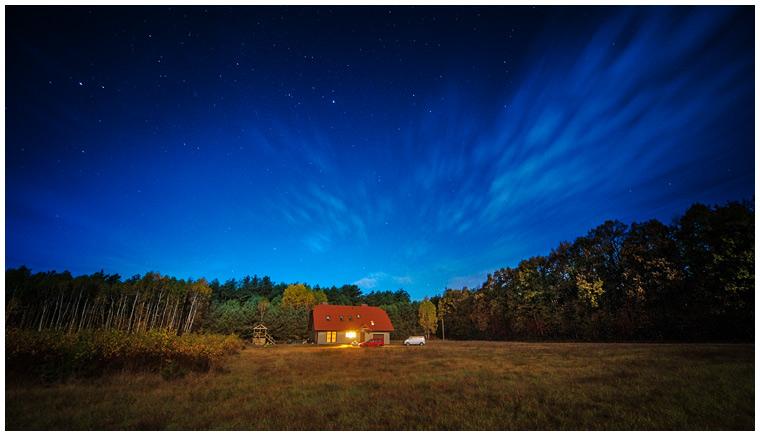Nocny domek gwiazdki